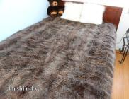 Faux Fur Bedspread Coverlets Gray Raccoon Throws