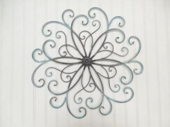 Faux Wrought Iron Wall Art Pick Theshabbystore Etsy