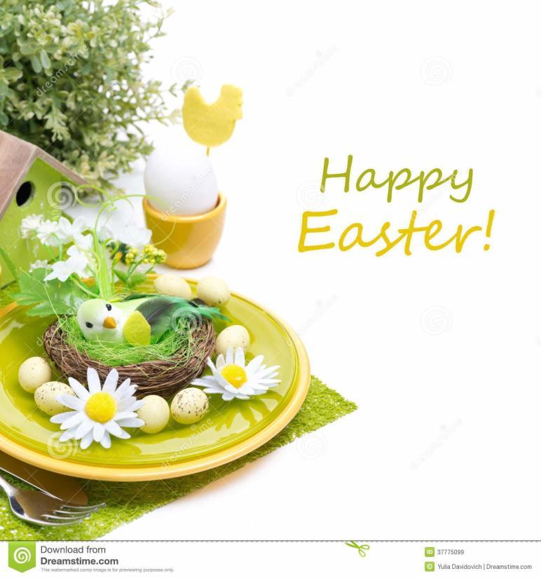 Festive Easter Table Setting Decorations Egg