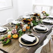 Festive Thanksgiving Tablescape Happy Grey Lucky