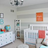 Finally Our Baby Boy Aqua Orange Grey Nursery