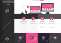 Flat Website Template Homepage Portfolio Contact
