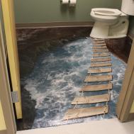 Floor Paintings Bathroom Pixshark