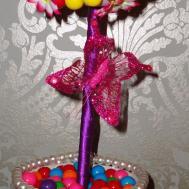 Floral Arrangement Candy Centerpiece