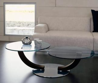 Formulas Decorate Round Glass Coffee Table