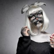 Freaky Bunny Halloween Makeup Tutorial Ellimacs