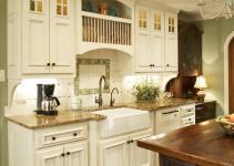 French Country Tranquil Kitchen Design Ideas
