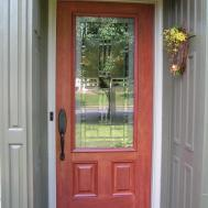 Front Door Paint Color Ideas Knob Red Side