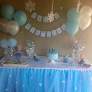 Frozen Inspired Tutu Table Skirt Party Decoration