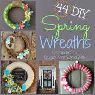 Frugal Mom Wife Diy Spring Wreaths