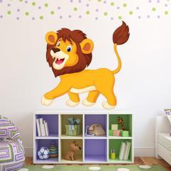 Fun Lion Wall Sticker Safari Animal Decal Kids