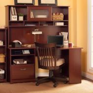 Furniture Bush Cabot Corner Desk Hutch