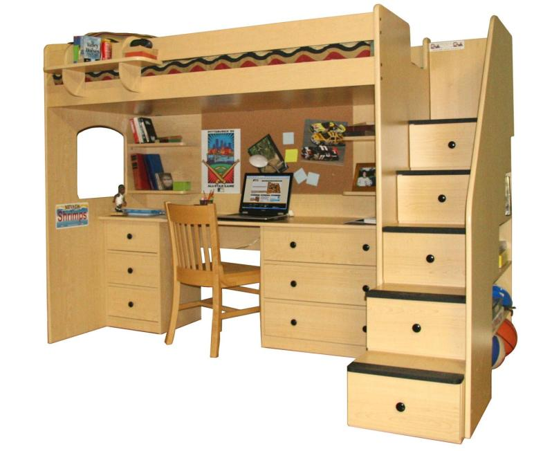 Furniture Corner Loft Bunk Bed Desk