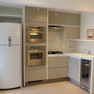 Furniture Modern Kitchen Cabinets Fridge Stacked
