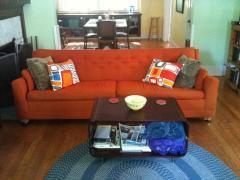 Furniture Orange Couches Modern Living Room Sale