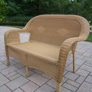 Furniture Simple Wicker Loveseat Design Your