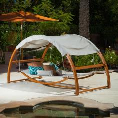 Furniture Wicker Outdoor Hanging Beds Sturdy Ropes