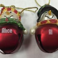 Ganz Jingle Bell Snowman Name Ornament Names
