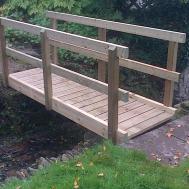 Garden Bridge Wooden Workshop Oakford Devon