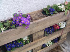 Garden Ideas Diy Pallet Vertical Planters Pallets Designs