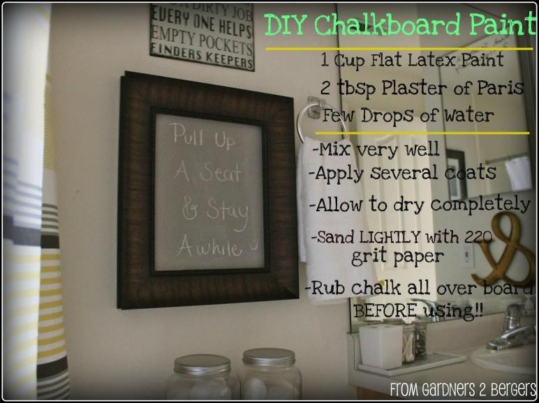 Gardners Bergers Chalkboard Projects Diy