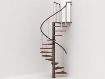 Genius Spiral Stairs Metal Steel Wood