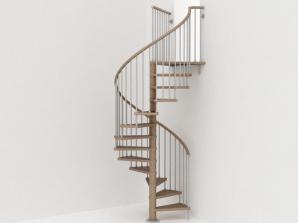Genius Spiral Stairs Metal Steel Wood