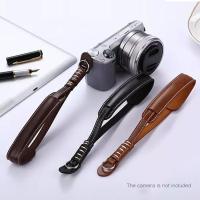 Genuine Leather Camera Hand Wrist Strap Sony Fujifilm
