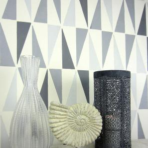 Geo Allover Stencil Large Geometric Wall Pattern