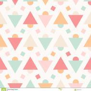 Geometric Abstract Pastel Seamless Pattern White Stock