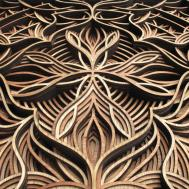 Geometric Laser Cut Wood Relief Sculptures Gabriel