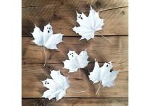 Ghost Leaves Scary Cute Halloween Diys Instagram