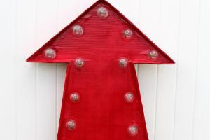 Giant Cardboard Marquee Letters Girl Glue Gun