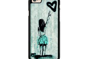 Girl Heart Graffiti Stencil Banksy Case Iphone