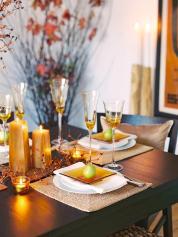 Glittering Fall Table Setting Centerpiece Ideas