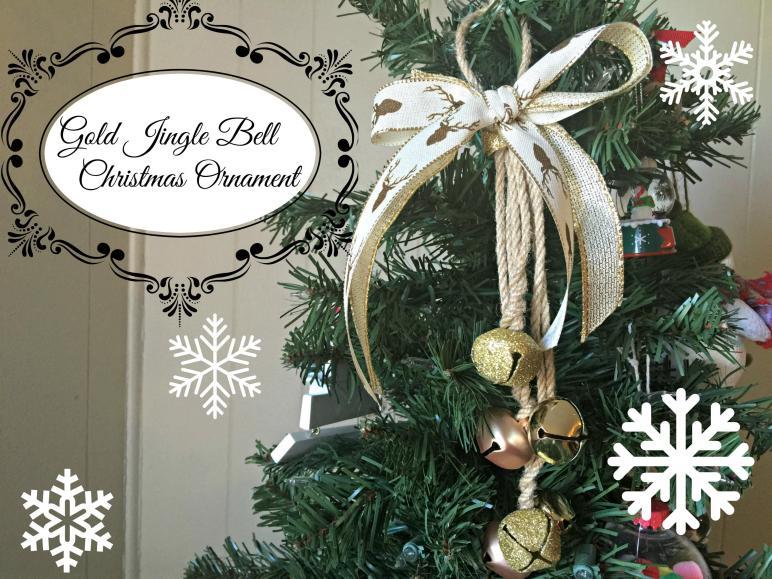 Gold Reindeer Jingle Bells Ornament Christmas Diy