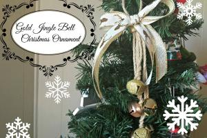 Gold Reindeer Jingle Bells Ornament Christmas Diy