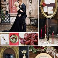 Gothic Glamour Elegant Halloween Wedding Inspiration