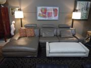 Gray Leather Sectional Grey Sf6201