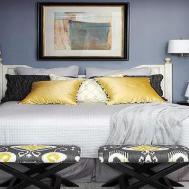 Gray Yellow Bedroom Blue