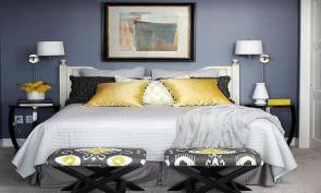 Gray Yellow Bedroom Blue