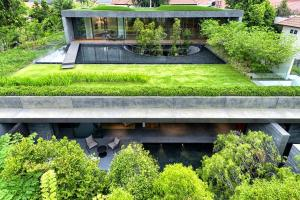 Green Roof House Singapore Wall Modern