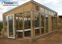 Greenhouse Built Glass Wood Timbersil Projects