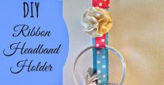 Greneaux Gardens Diy Ribbon Headband Holder Tutorial