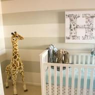 Grey Aqua Giraffe Nursery Project