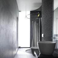 Grey Bathroom Minimalist Contemporary Home Singapore