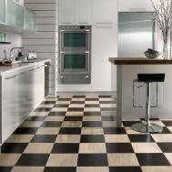 Grey White Checkered Laminate Flooring