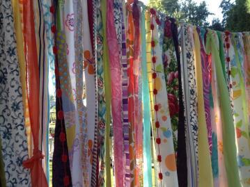 Gypsy Boho Curtain Fabric Garland Backdrop Dorm Ohmycharley