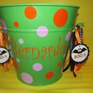 Halloween Basket Vinyl Personalized Easter Bucket Decal Diy