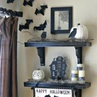 Halloween Black White Shelves Inspiration Moms